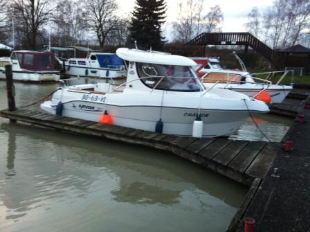 Praktische Ausbildung auf der Chamon, hier am Anleger im Hafen Kranenkamp am Dortmund-Ems-Kanal