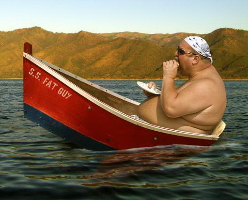 Kein Ausbildungsschiff für die praktische Ausbildung, eine Person in einem Boot auf See