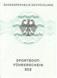 amtliches Bootsfuehrerschein Dokument SBF See