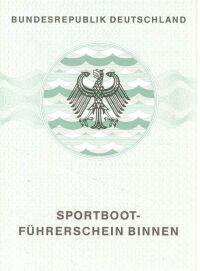 amtliches Bootsfuehrerschein Dokument SBF Binnen